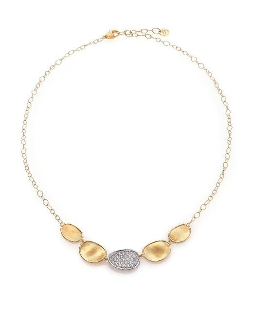 Marco Bicego | Metallic Lunaria Diamond & 18k Yellow Gold Necklace | Lyst