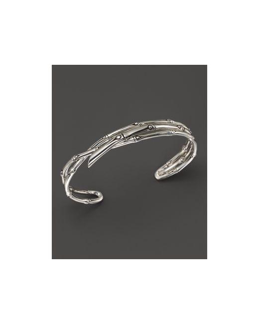 John Hardy | Metallic Women's Sterling Silver Bamboo Narrow Squeeze Cuff | Lyst