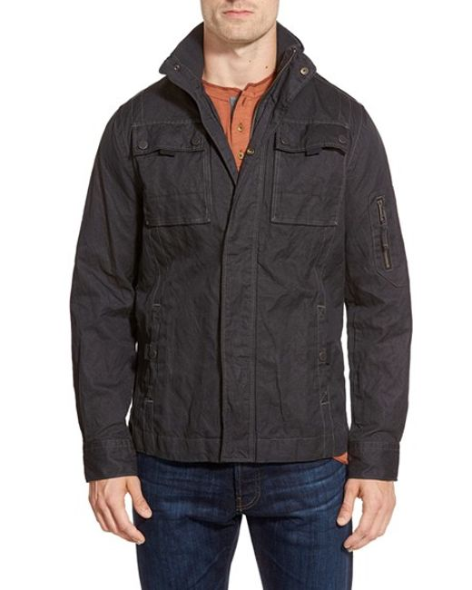 Jeremiah | Black 'thorne' Coated Canvas Jacket for Men | Lyst