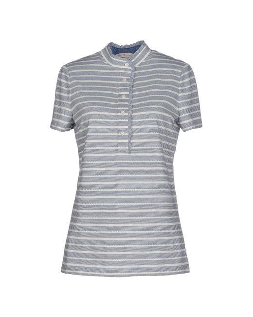 Tory burch t shirt in gray slate blue lyst for Tory burch t shirt