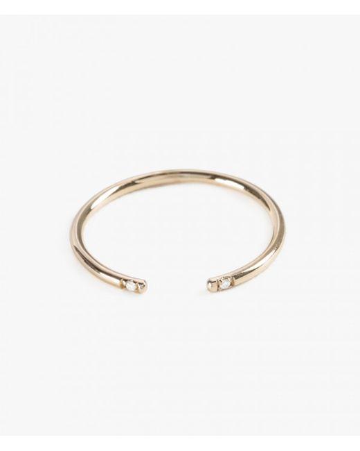 Jennie Kwon | Metallic White 2 Diamond Cuff Ring | Lyst