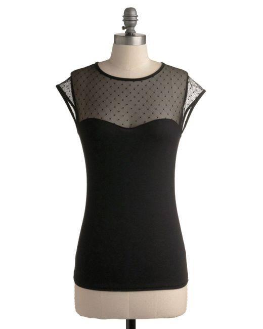 Rock Steady/steady Clothing In | The Answer Is Sheer Top In Black | Lyst