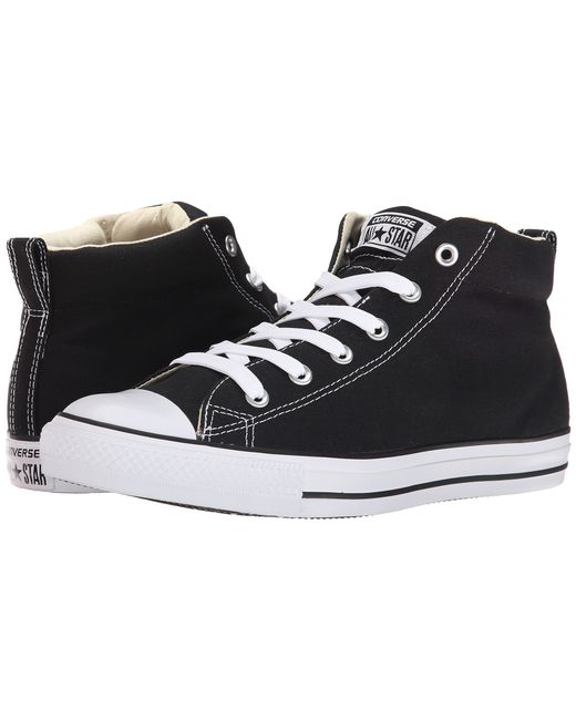 Converse | Black Chuck Taylor® All Star® Street Core Canvas Mid | Lyst