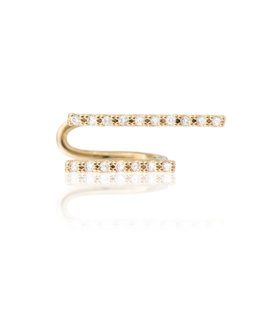 Astrid & Miyu | Metallic Two-timer Diamante Ear Cuff Gold | Lyst