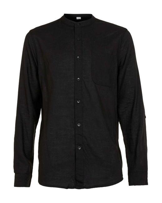 Nana judy Black Linen Shirt in Black for Men | Lyst