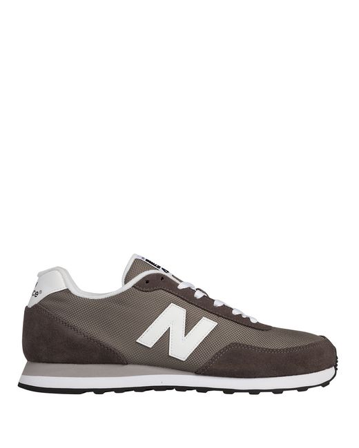 New Balance | Gray Suede And Mesh Sneakers for Men | Lyst