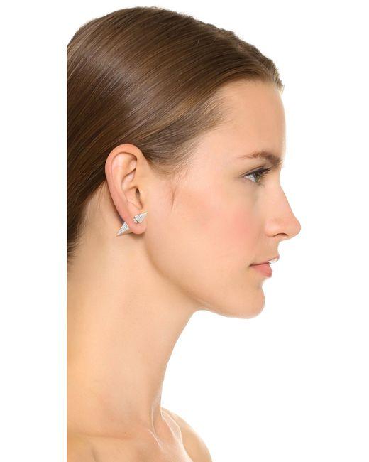 Vita Fede | Metallic Titan Double Hexagon Crystal Earrings | Lyst
