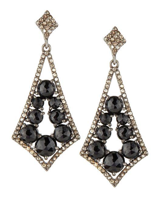 Bavna | Black Spinel Pointed Dangle Earrings | Lyst