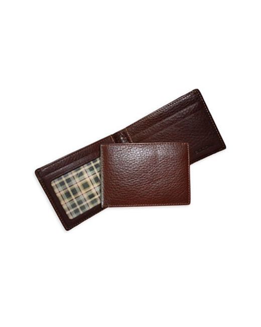 Boconi | Brown 'tyler Slimster' Tumbled Leather Wallet for Men | Lyst