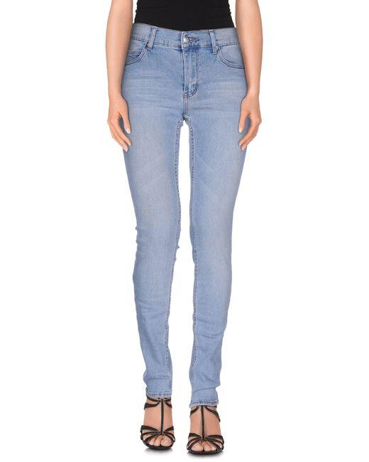Cheap Monday | Blue Denim Trousers | Lyst