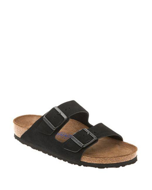 birkenstock arizona black suede shearling lined flat sandals