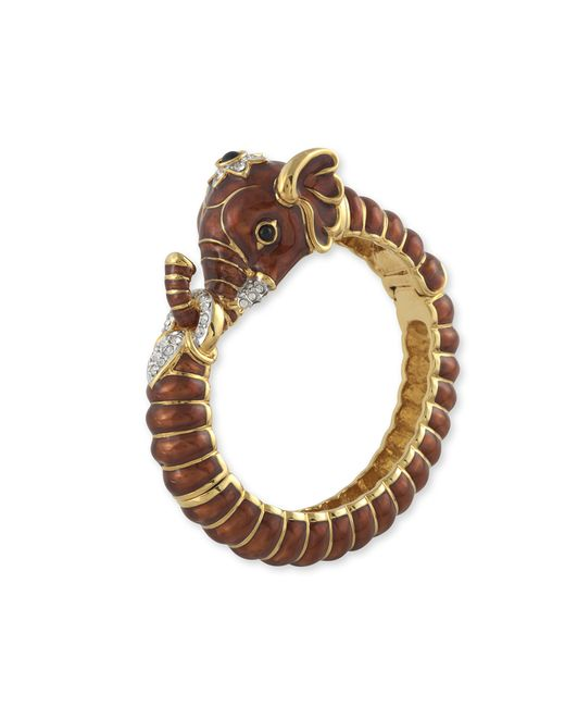 Kenneth Jay Lane | Brown Elephant Bracelet | Lyst