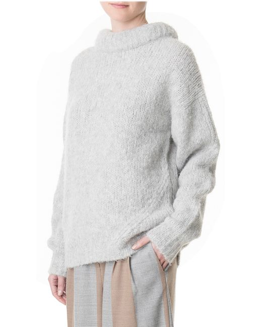 Tibi   Gray Bubble Pullover   Lyst