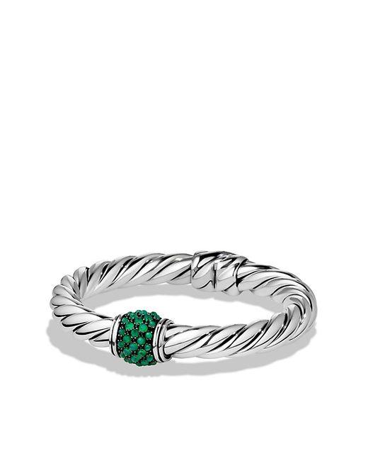 David Yurman | Osetra Center Station Bracelet With Green Onyx, 10mm | Lyst