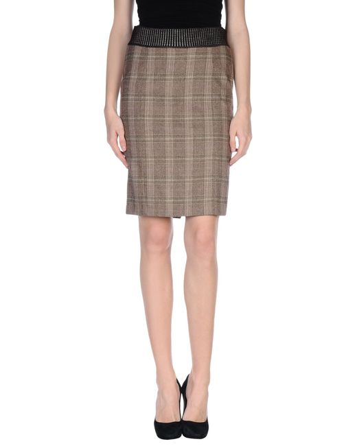 m missoni knee length skirt in lyst