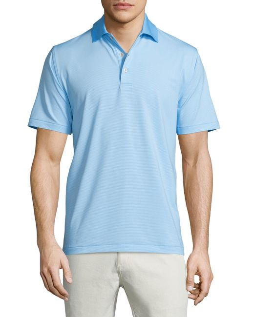 Peter millar jubilee micro stripe stretch jersey polo for Peter millar polo shirts