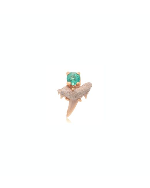 Jacquie Aiche | Green 14k Mini Shark Tooth Stud | Lyst