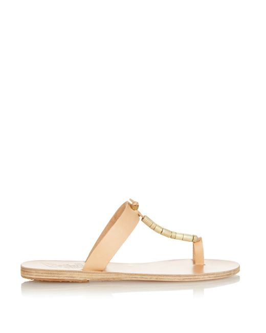 Ancient Greek Sandals | Brown Iris Embellished-Leather Sandals  | Lyst