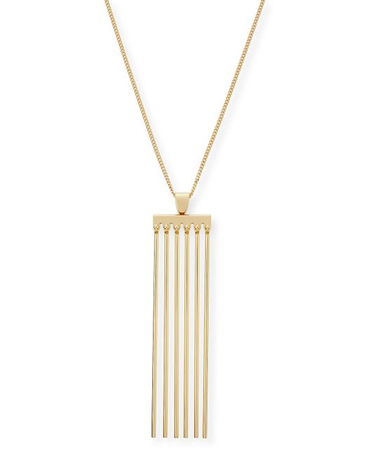 Chloé   Metallic Frances Pendant Necklace   Lyst