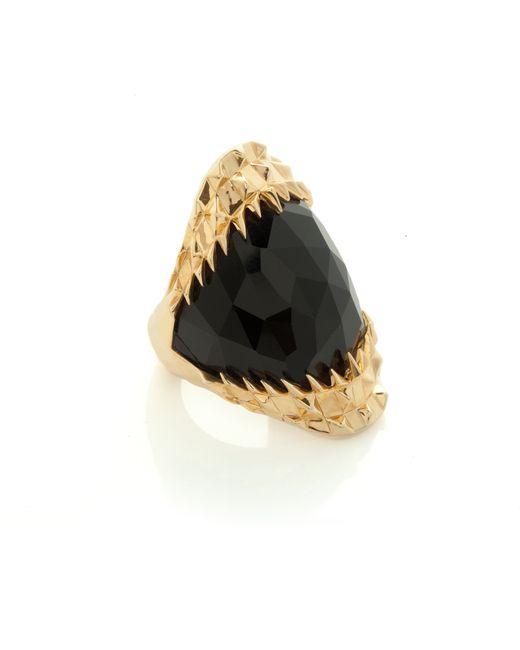Kasun | Metallic Black Vampire Bite Ring Gold | Lyst
