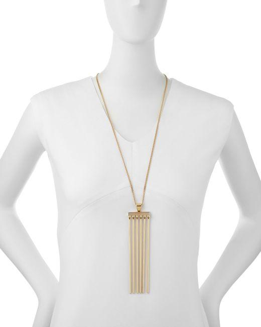 Chloé | Metallic Frances Pendant Necklace | Lyst