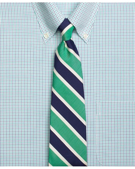 Brooks Brothers | Green Framed Mogador Stripe Tie for Men | Lyst