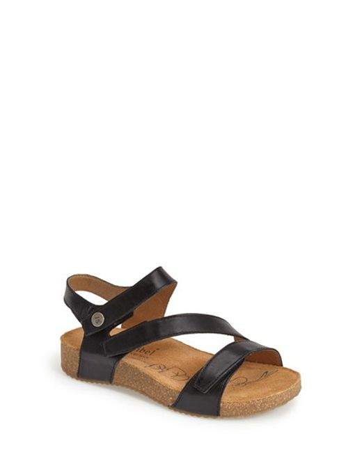 Josef Seibel | Black 'tonga' Leather Sandal | Lyst