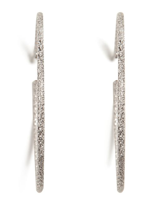 Carolina Bucci | 18k White Gold Medium Sparkly Hoop Earrings | Lyst