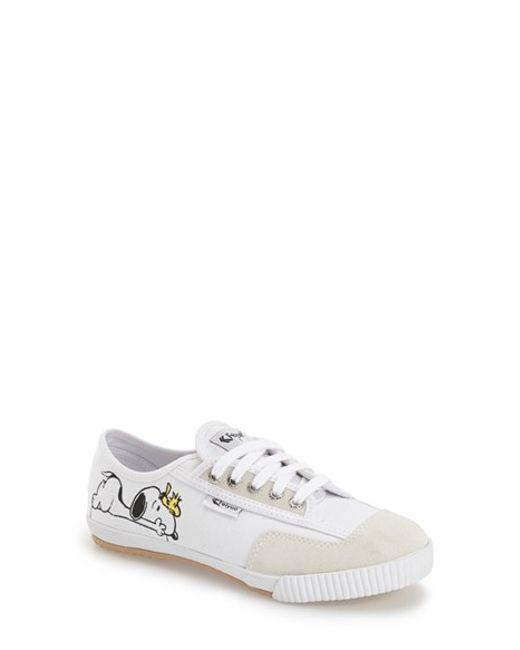 Feiyue Fe Lo Peanuts Canvas Sneaker In White White