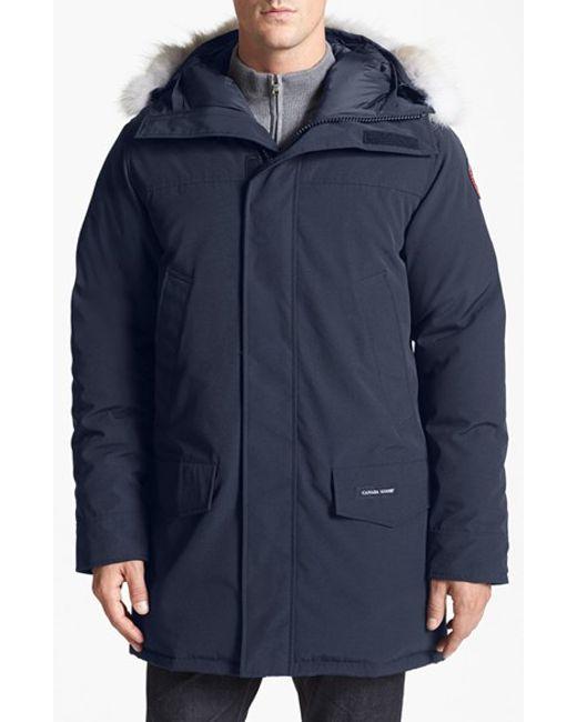 Canada Goose | Blue Langford Fur-Trimmed Parka for Men | Lyst