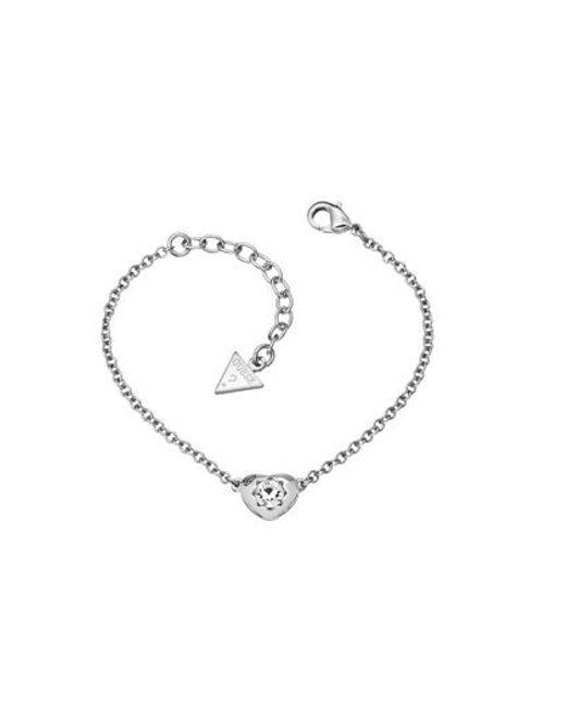 Guess | Metallic Rhodium Bracelet | Lyst