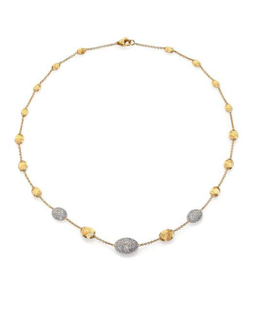 Marco Bicego | Metallic Siviglia Diamond, 18k White & Yellow Gold Station Necklace | Lyst