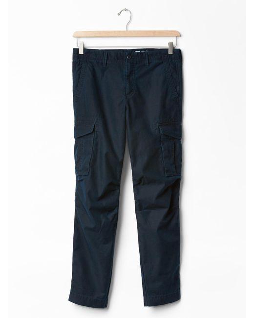 Gap Cargo Slim Fit Pants in Blue for Men (navy) | Lyst
