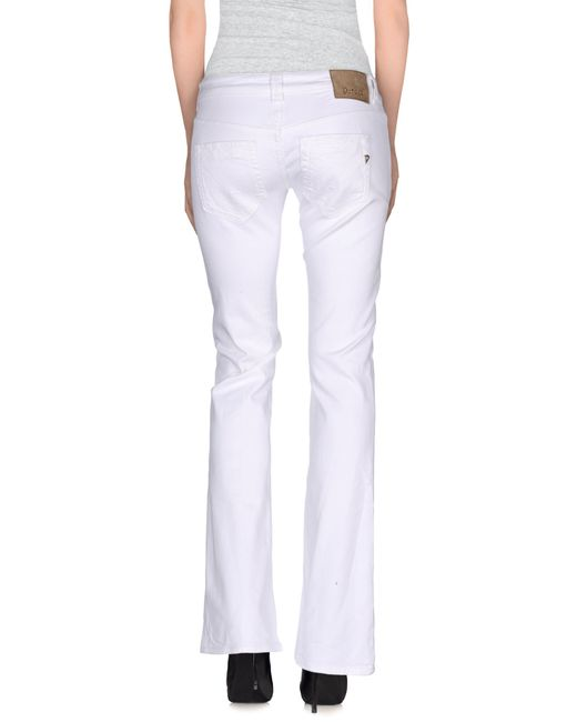 Dondup   White Casual Trouser   Lyst