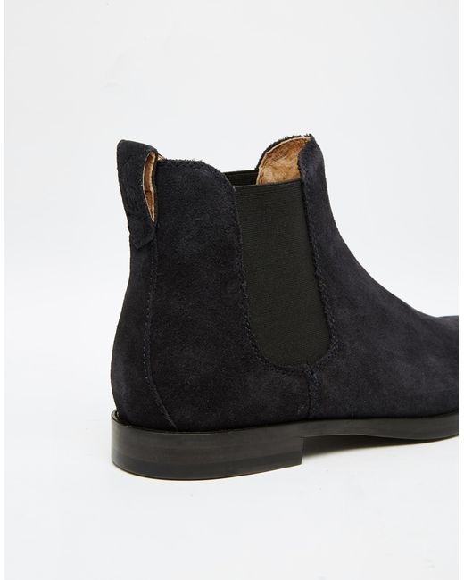 polo ralph dillian suede chelsea boots in blue for
