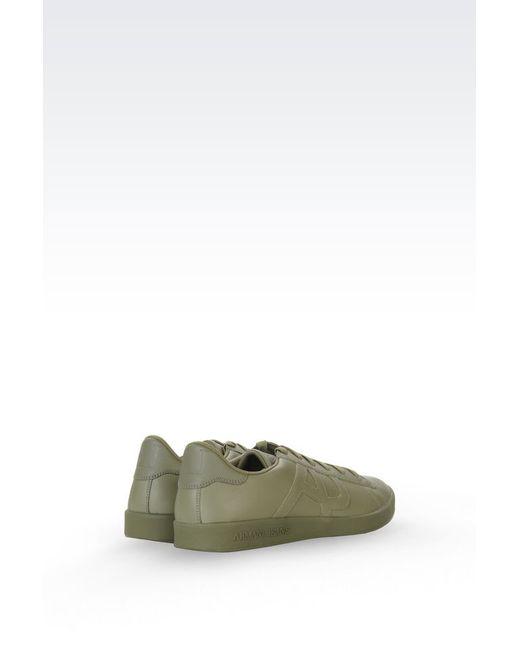 armani jeans sneaker in green for men lyst. Black Bedroom Furniture Sets. Home Design Ideas