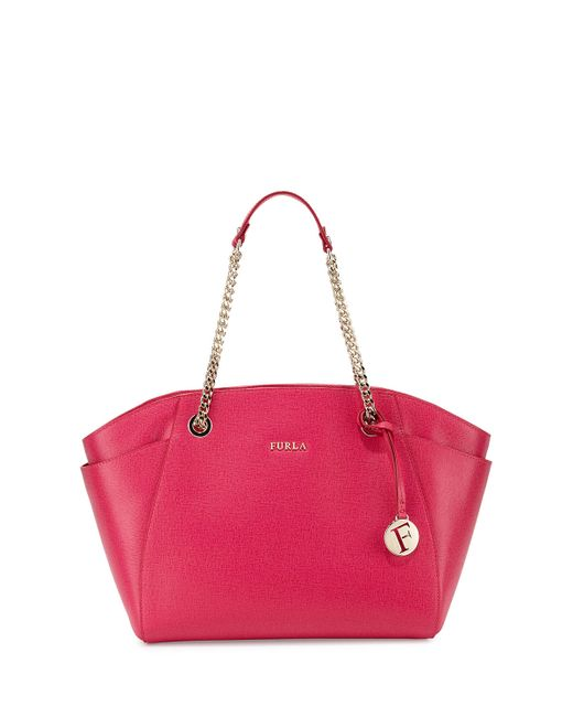 Furla Daisy Medium Leather Tote Bag in Pink (GLOSS)