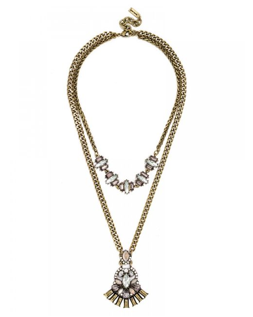 baublebar nirvana necklace in gold lyst