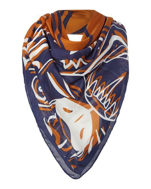 KENZO | Blue Four Tigers Modal Square Scarf | Lyst