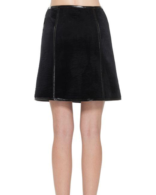 max bonded velvet a line skirt in black lyst