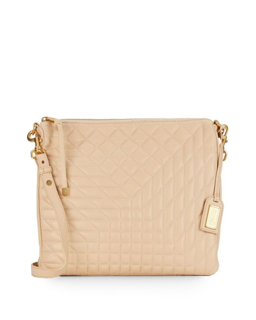 Badgley Mischka   Natural Clarissa Quilted Leather Convertible Clutch   Lyst