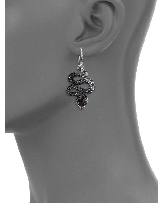 John Hardy | Metallic Legends Cobra Semi-precious Multi-stone, Diamond & Sterling Silver Drop Earrings | Lyst