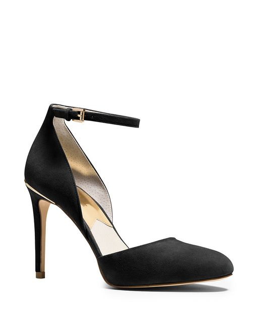 MICHAEL Michael Kors | Black Georgia Suede Stiletto Pumps | Lyst