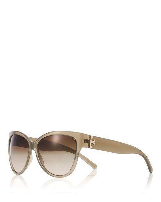 Tory Burch | Brown Oversized Cat-eye Sunglasses | Lyst