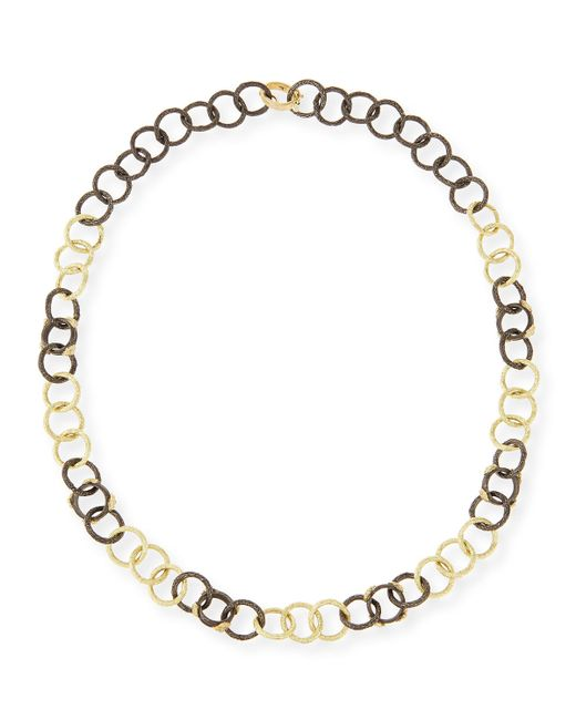Armenta | Blue Midnight & Yellow Gold Diamond Link Necklace | Lyst