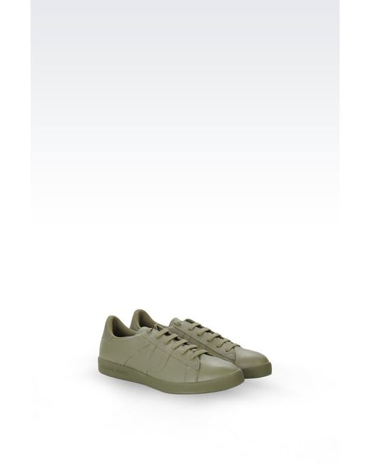 armani jeans sneaker in green for men lyst. Black Bedroom Furniture Sets. Home Design Ideas
