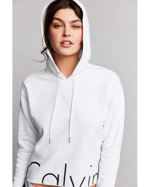Lyst - Calvin Klein For Uo Flyaway Hoodie Sweatshirt in Blue