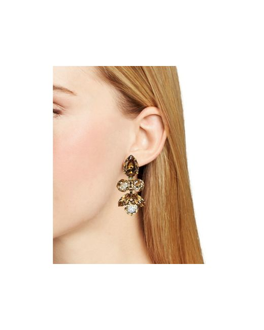 Sorrelli | Metallic Lotus Bloom Swarovski Crystal Drop Earrings | Lyst