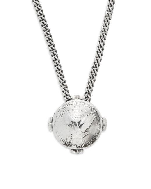 King Baby Studio   Metallic Liberty Quarter Dollar Pendant Necklace for Men   Lyst