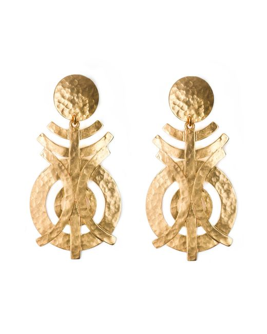 Natori | Metallic Gold Geo Earrings | Lyst